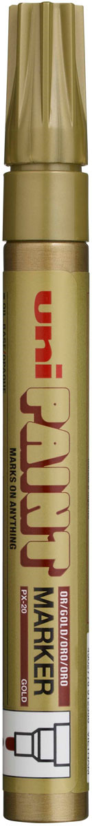 Маркер Uni, PX-30 цвет: золотой, 2,2-2,8 мм -  Маркеры