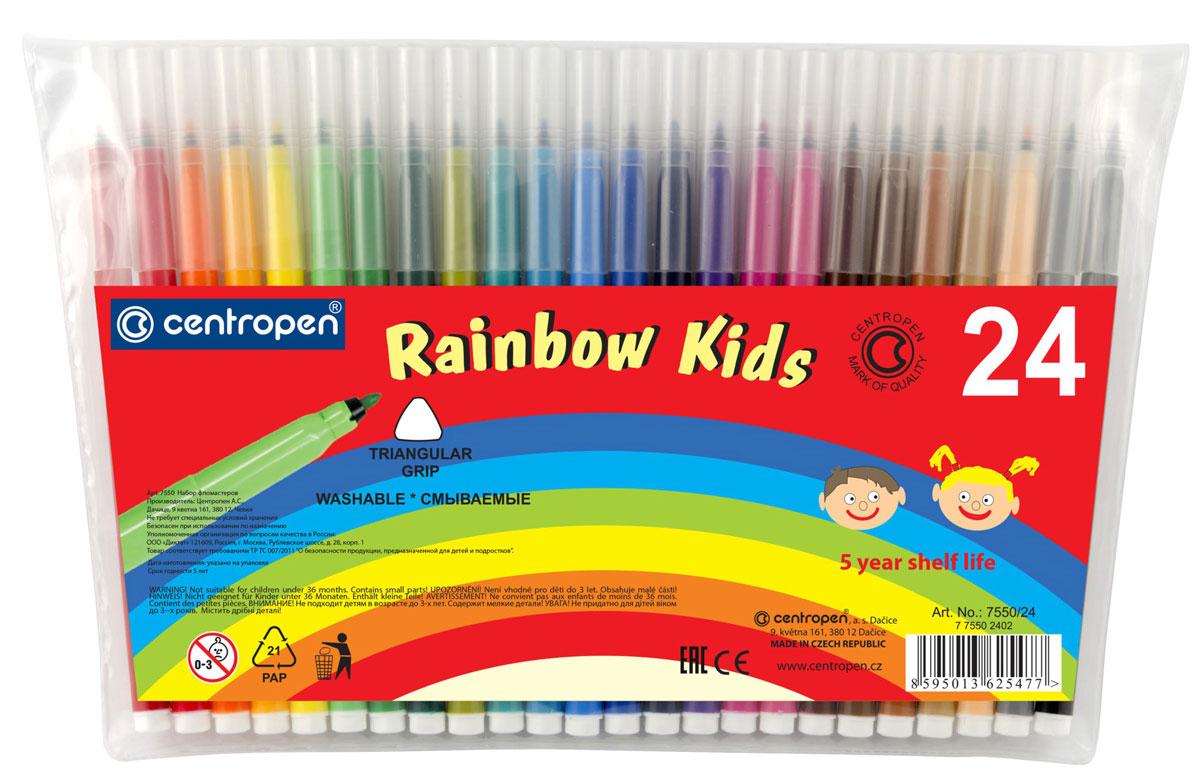 Набор фломастеров Centropen Rainbow Kids, 24 цвета -  Фломастеры