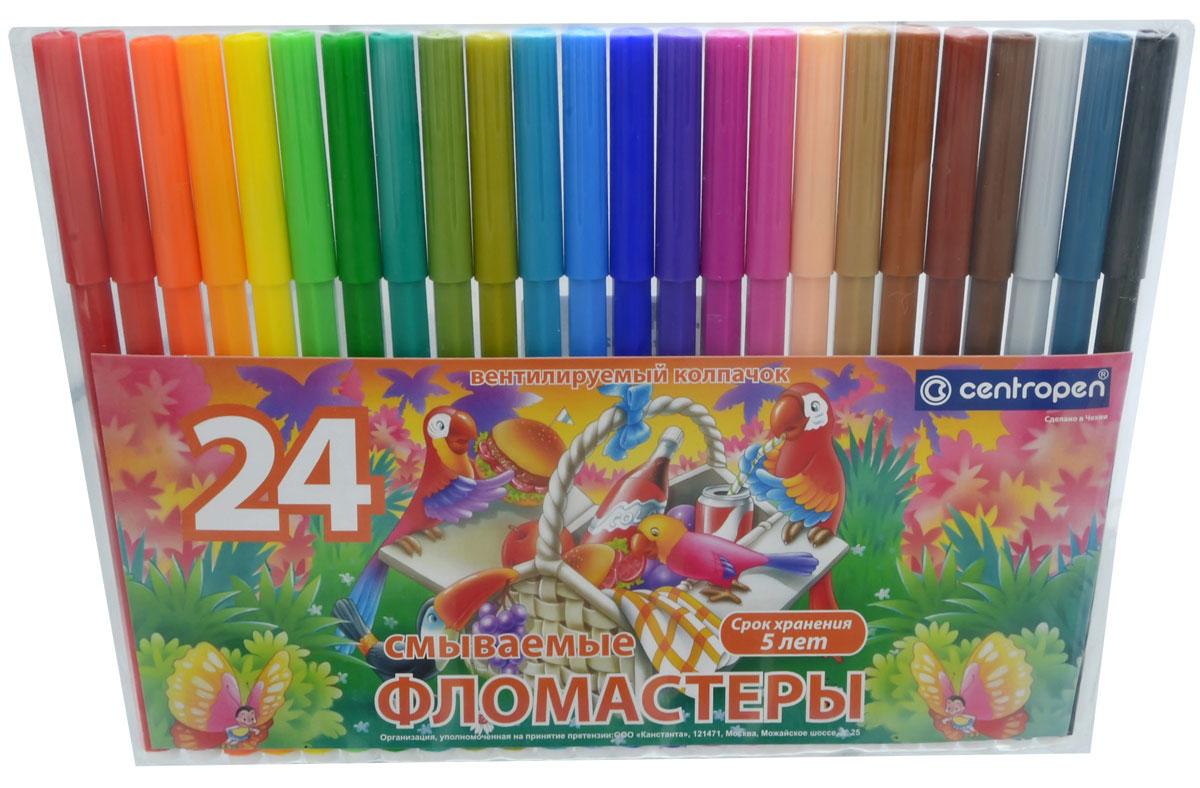 Набор фломастеров Centropen  Птицы , 24 цвета -  Фломастеры