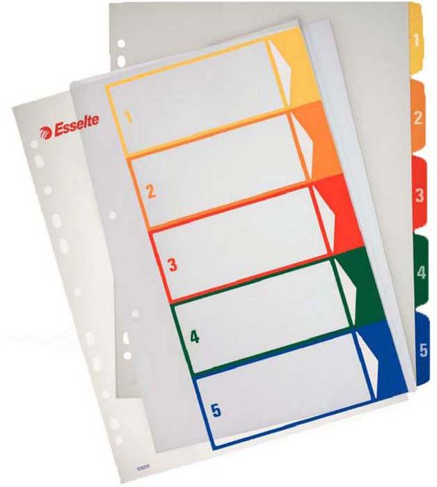 Разделитель для папки Esselte, 5 цветов -  Файлы и разделители
