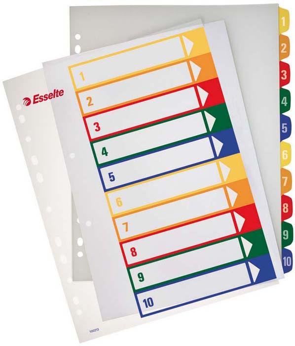 Разделитель для папки Esselte, 10 цветов -  Файлы и разделители