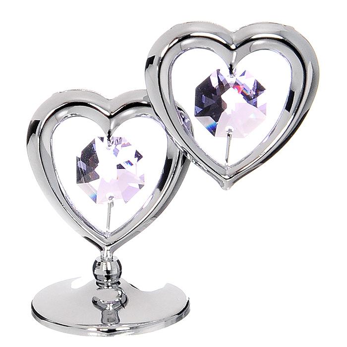 """Фото Миниатюра """"Два Сердца"""", цвет: серебристый, 5,5 см. Купить  в РФ"""