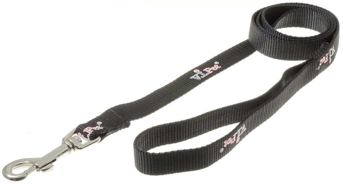 """Фото Поводок для собак """"V.I.Pet"""", цвет: черный, ширина 20 мм, длина 1,2 м. Купить  в РФ"""