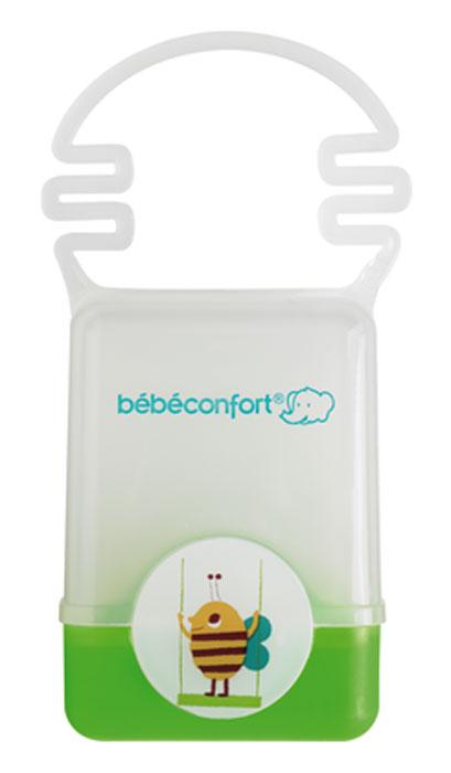Фото Bebe Confort Контейнер для хранения пустышки new зеленый. Купить  в РФ