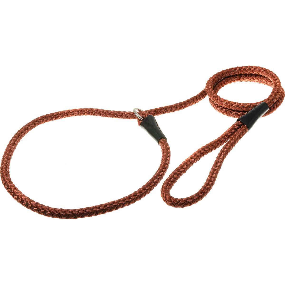 """Фото Поводок-удавка для собак V.I.Pet """"Нейлоновый канат"""", цвет: красно-коричневый, ширина 10 мм, длина 170 см. Купить  в РФ"""