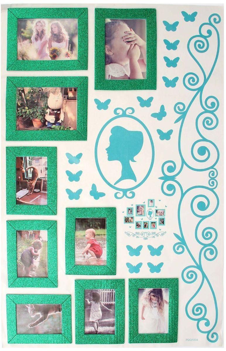 Wall Decor Наклейка-фоторамка на 8 фото Флора -  Детская комната