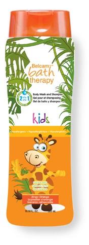"""Фото Bath Therapy 2 в 1 Детский гель для душа и шампунь для волос """"Взрывной апельсин"""", 500 мл. Купить  в РФ"""