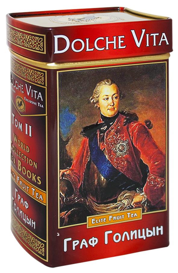 Фото Dolche Vita Граф Голицын Том 2 ароматизированный листовой чай, 100 г (подарочная книга). Купить  в РФ