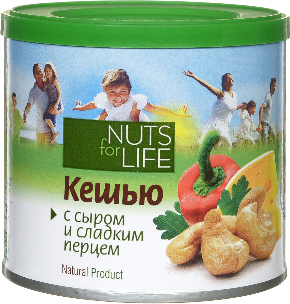 Фото Nuts for Life Кешью обжаренный соленый с сыром, сладким перцем и зеленью, 115 г. Купить  в РФ