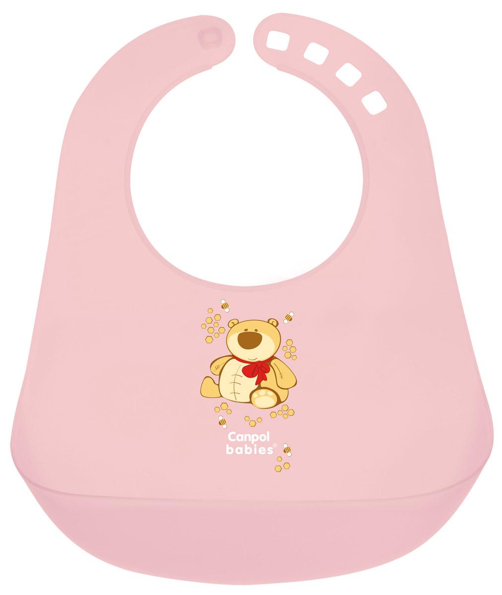 Фото Canpol Babies Нагрудник пластиковый цвет розовый. Купить  в РФ