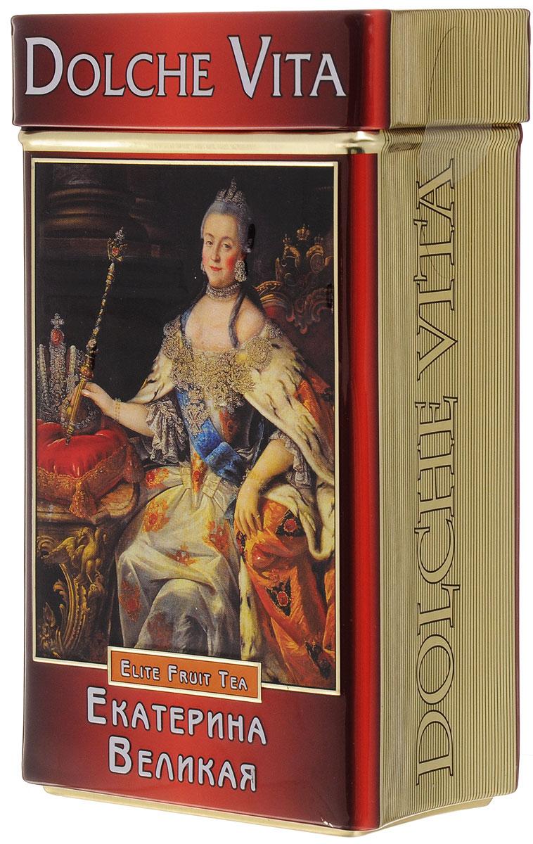 Фото Dolche Vita Екатерина Великая подарочный черный листовой чай, 100 г. Купить  в РФ