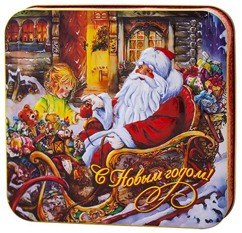 """Фото Дольче Вита """"Дед Мороз в санях"""" черный листовой чай, 100 г. Купить  в РФ"""