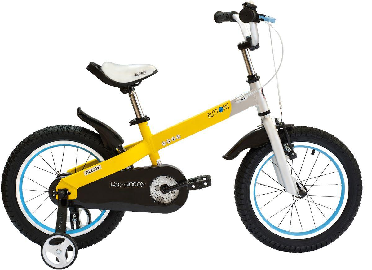 Велосипед детский Royal Baby  Buttons Alloy 14  , цвет: желтый -  Детские велосипеды