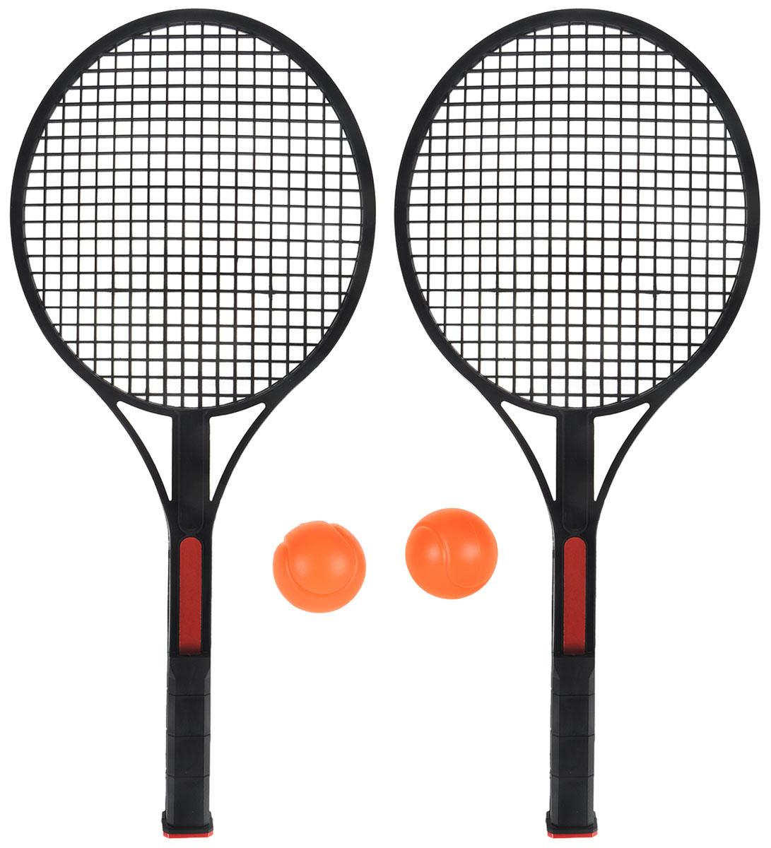 """Фото Набор для игры в теннис """"King Sport"""", цвет: черный, красный, 4 предмета. Купить  в РФ"""