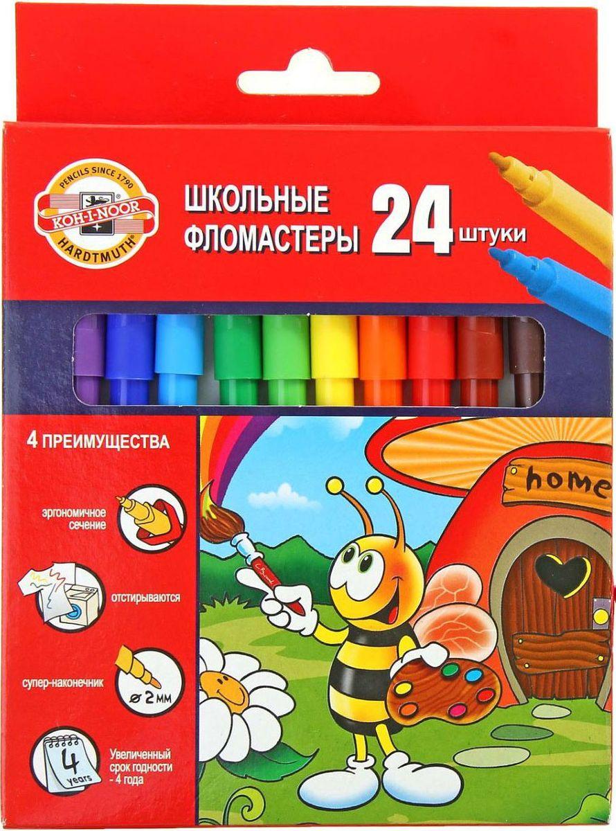 Фото Koh-I-Noor Набор фломастеров Пчелка 24 цвета. Купить  в РФ