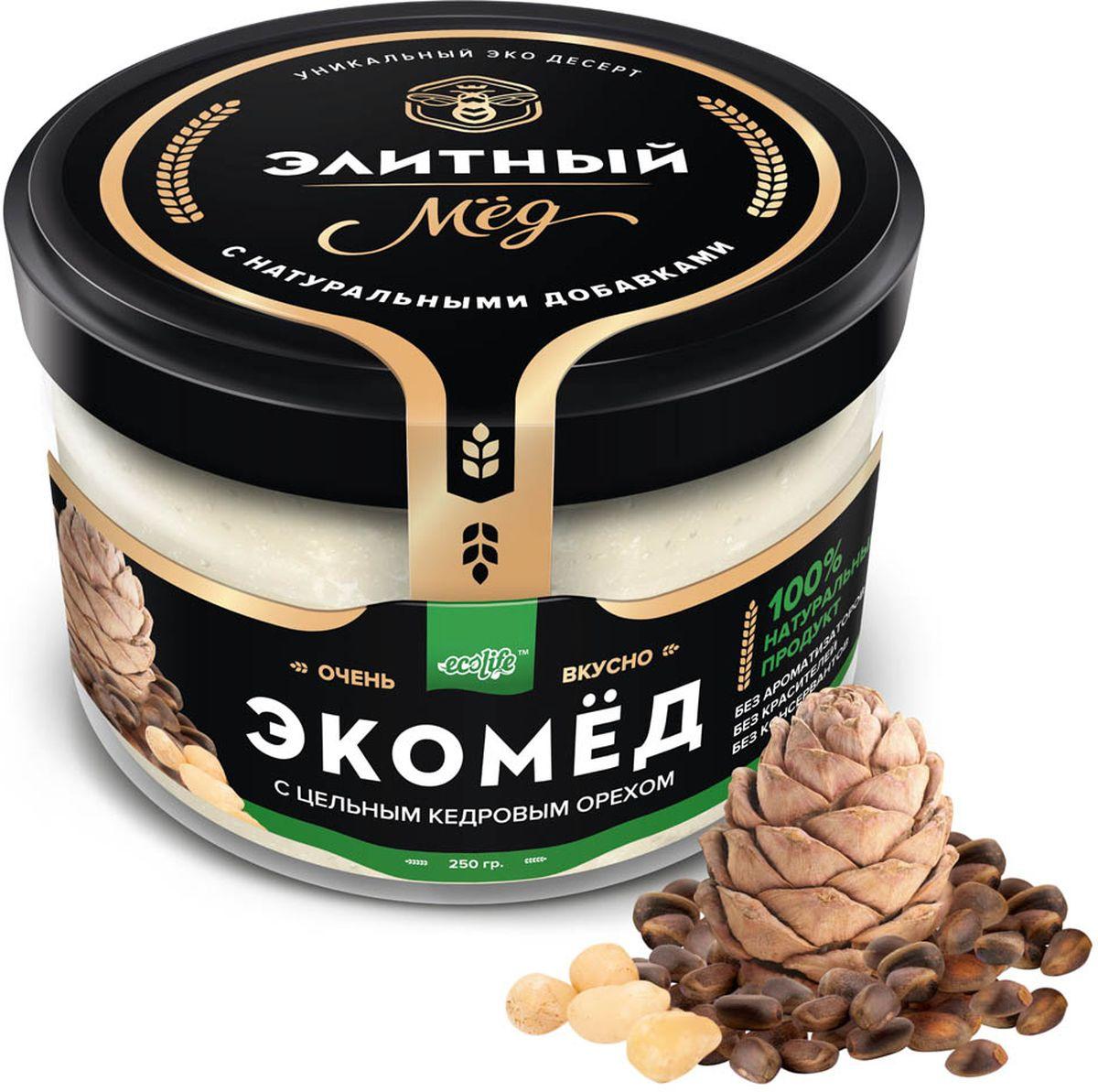 Фото Ecolife Экомед с кедровыми орехами, 250 г. Купить  в РФ