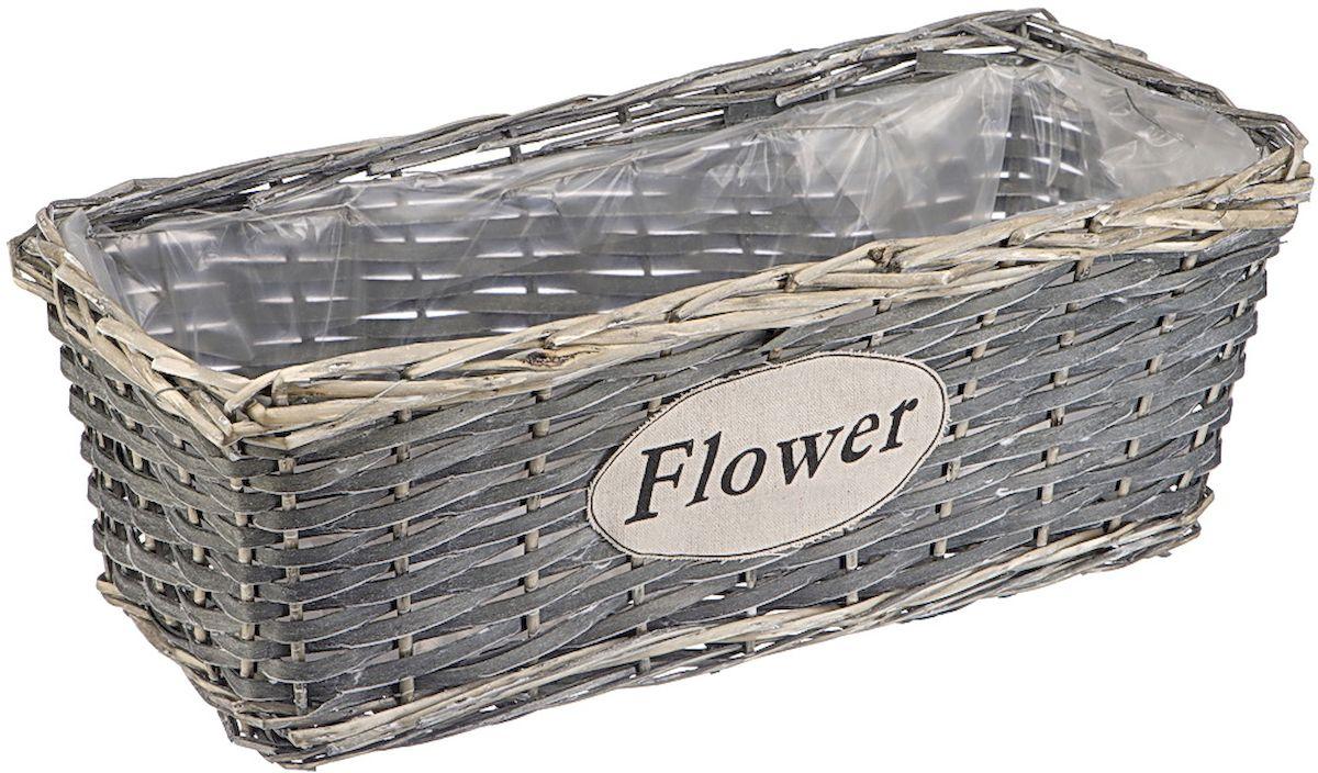 """Фото Кашпо Natural House """"Flower"""", прямоугольное, 44 х 18 х 16 см. Купить  в РФ"""