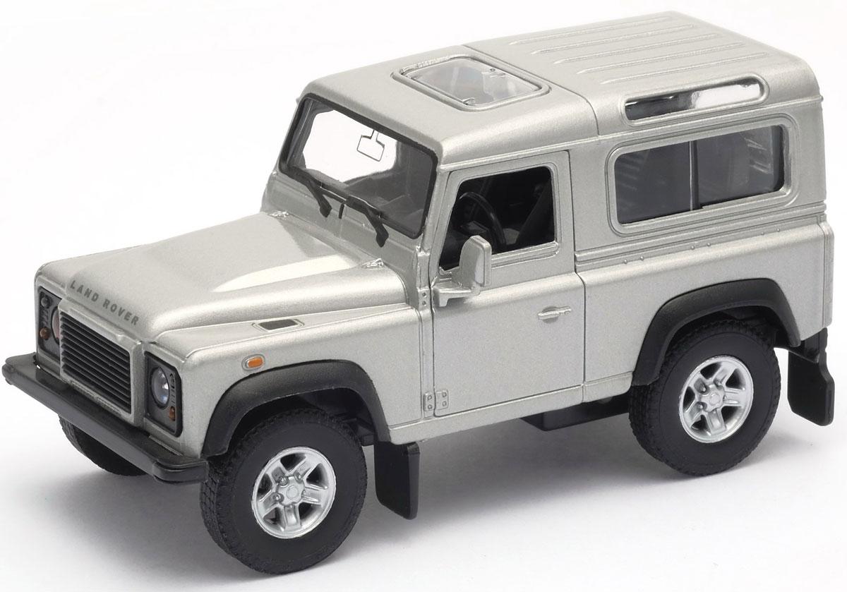 Фото Welly Модель автомобиля Land Rover Defender цвет белый. Купить  в РФ