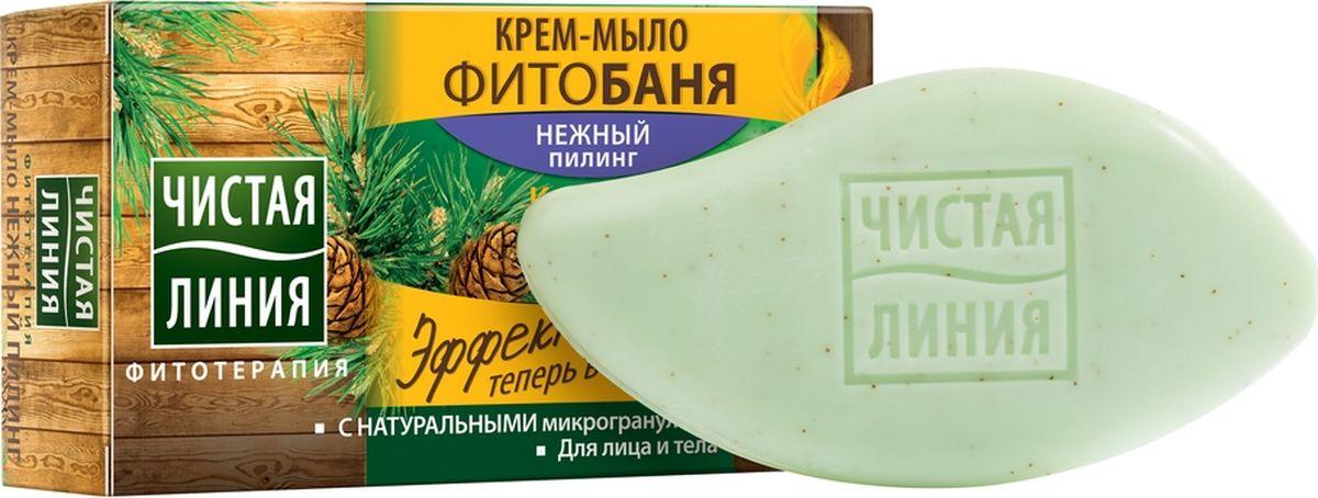 Фото Чистая Линия Фитобаня твердое крем-мыло Нежный пилинг, 75 г. Купить  в РФ