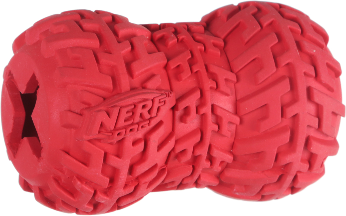 """Фото Игрушка-кормушка для собак Nerf """"Шина"""", цвет: красный, длина 7 см. Купить  в РФ"""