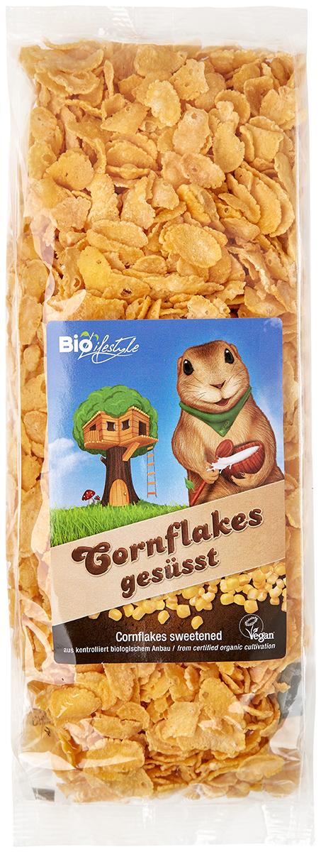 Фото Biolifestyle мюсли для завтрака сладкие органические кукурузные хлопья,250 г. Купить  в РФ