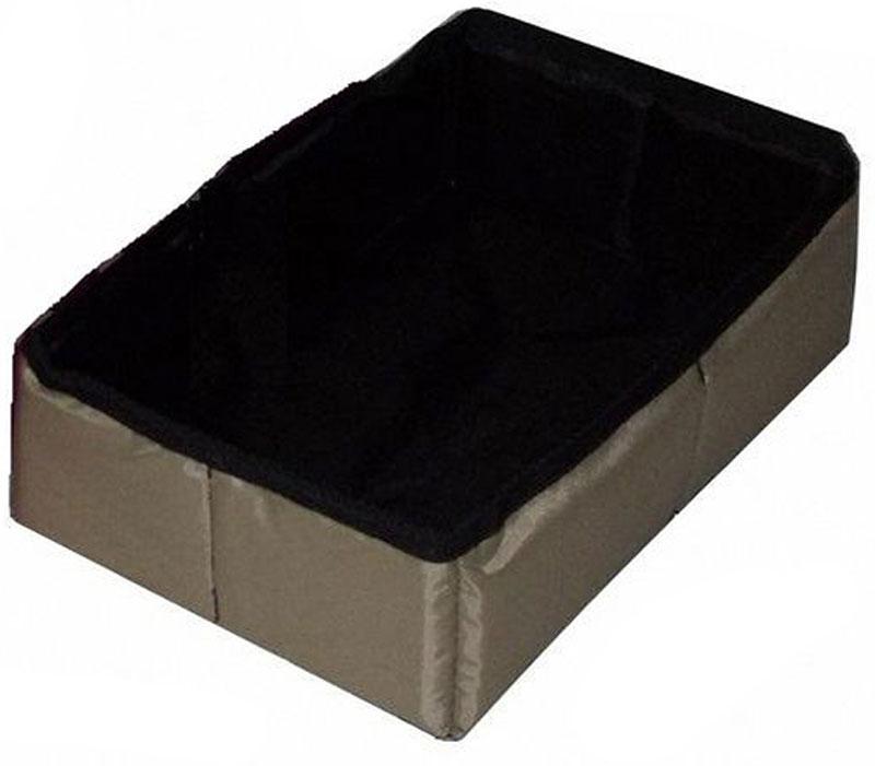 """Фото Лоток-туалет """"Заря-Плюс"""", для выставочных палаток, складной, цвет: серый, 40 х 30 х 10 см. Купить  в РФ"""
