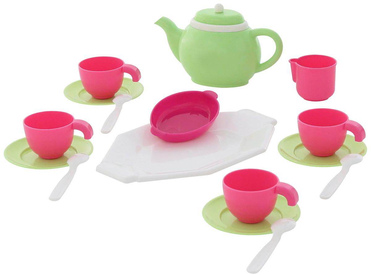 Фото Полесье Набор игрушечной посуды на 4 персоны 17 элементов. Купить  в РФ