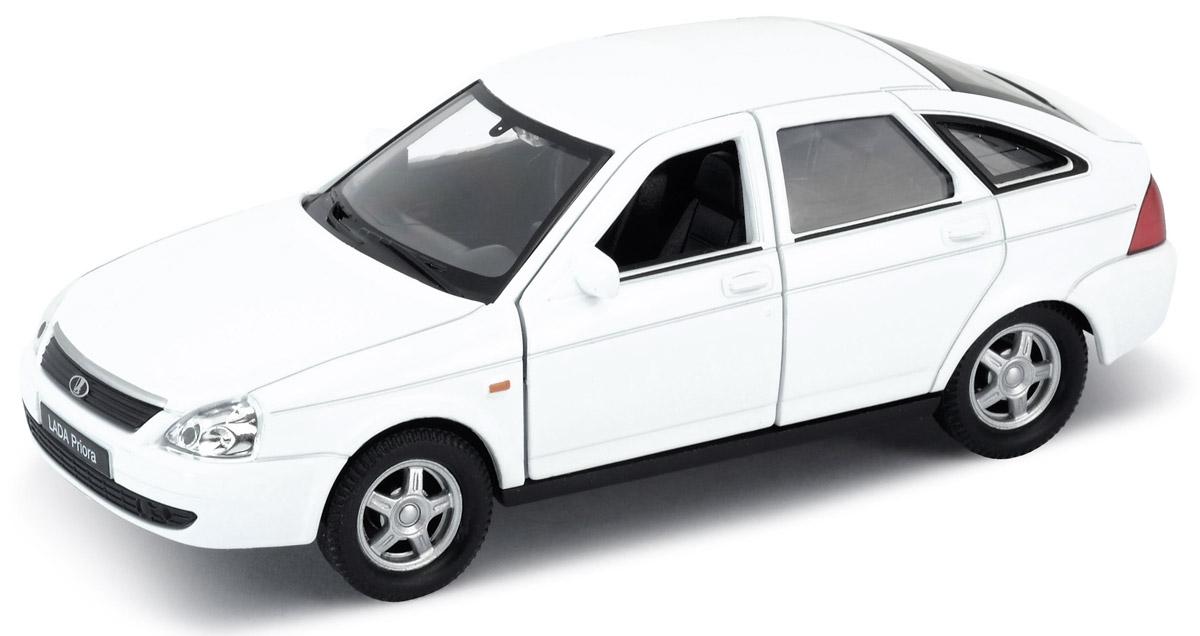 Фото Welly Модель автомобиля LADA Priora цвет белый. Купить  в РФ