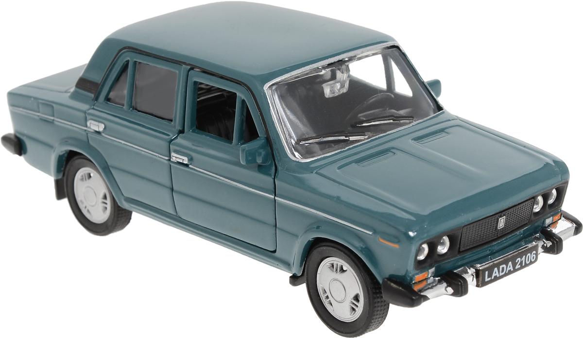Фото Welly Модель автомобиля LADA 2106 цвет темно-бирюзовый. Купить  в РФ