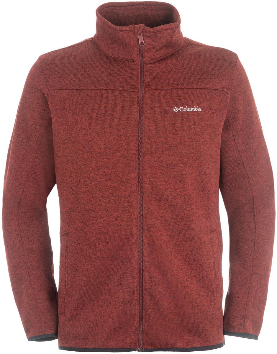 Фото Толстовка мужская Columbia Birch Woods Full Zip Fleece, цвет: бордовый. 1681921-837. Размер XL (52/54). Купить  в РФ