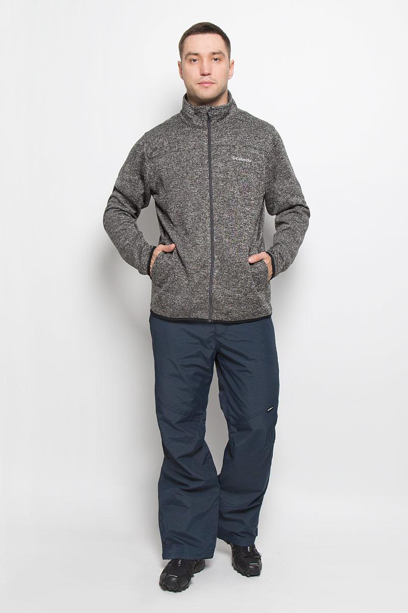 Фото Толстовка мужская Columbia Birch Woods Full Zip Fleece, цвет: темно-серый. 1681921-011. Размер S (44/46). Купить  в РФ