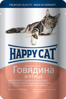 "Консервы для кошек ""Happy Cat"", говядина и птица, 100 г"