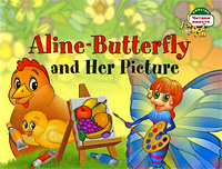 Aline-Butterfly and Her Picture / Бабочка Алина и ее картина.