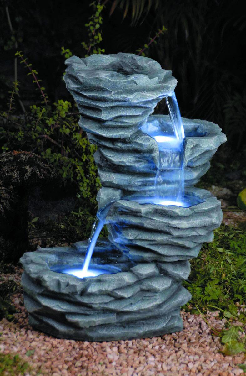 Маленькие фонтаны для сада