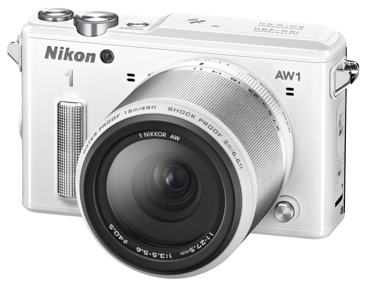 Nikon 1 AW1 Kit 11–27.5mm, White цифровая фотокамера VVA203K001