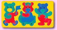 Мишки. Мягкая мозаика игрушки для ванны флексика мозаика набор для ванны мир транспорта