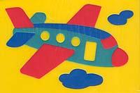 Самолетик. Мягкая мозаика игрушки для ванны флексика мозаика набор для ванны мир транспорта