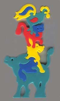 Мягкая мозаика Животные из сказки мягкая мозаика животные из сказки