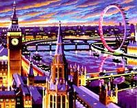 """Набор для раскрашивания акриловыми красками """"Лондон"""", KSG"""
