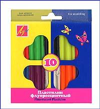 Пластилин флуоресцентный. 10 цветов, Луч