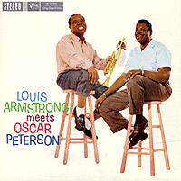 Oscar Peterson and his stellar trio were obviously pleased to be playing with jazz legend Louis Armstrong - Oscar never allows his awesome technical prowess to intrude upon Louis' relaxed vocals and trumpet jaunts. The song choices are all classics, Armstrong sings and plays with humor and feeling while Peterson demonstrates that he is a subtle accompanist, crafting Armstrong's melodic lines into webs of spirited musical dialogue. This is classic jazz at its best.