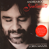 Андреа Бочелли,The London Symphony Orchestra Andrea Bocelli. Sentimento андреа бочелли andrea bocelli concerto one night in central park super deluxe edition 2 cd 2 dvd