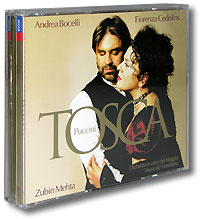 Андреа Бочелли,Фьоренца Седолинс,Maggio Musicale Florentino Orchestra,Зубин Мета Andrea Bocelli, Fiorenza Cedolins, Zubin Metha. Puccini. Tosca (2 CD) андреа бочелли andrea bocelli concerto one night in central park super deluxe edition 2 cd 2 dvd