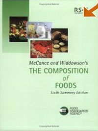 McCance and Widdowson's The Composition of Foods brijesh yadav and rakesh kumar soil zinc fractions and nutritional composition of seeded rice
