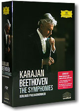 Karajan. Beethoven - The Symphonies. Berliner Philharmoniker (3 DVD) riccardo chailly beethoven the symphonies 5 cd
