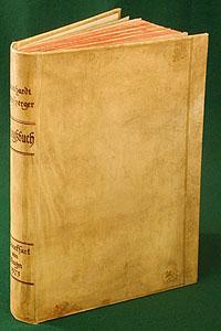 Книга войнZМ5000Идеально для роскошного представительского подарка высокопоставленному лицу. Очень редкое антикварное издание. Первое прижизненное издание.Франкфурт-на-Майне, 1573 год. Издание содержит 178 гравюр в тексте, 9 раскладных офортов, также книга украшена 34 гравированными буквицами и 40 концовками.Пергаменовый старинный цельнокожаный переплет с золотым тиснением. Цветной обрез. Сохранность хорошая. Переплет и часть страниц отреставрированы. Более поздние форзацы. Книга войн. Часть 3. На немецком языке, готический шрифт.Подлинная энциклопедия не только обычаеви жизни военных, но ив целом культуры XVI века, c гравюрами Дж. Аммана. Впервые опубликована в 1573 г. Книга выросла из небольших военных очерков и разрослась в объемное издание, которое охватывает как теорию, так и практику военного дела. Фронспергер считался одним из авторитетнейшихтеоретиков военного дела своего времени. Предположительно в основу военного устава, созданного в шестнадцатом веке в России,была положена именно Kriegsbuch. Издание не подлежит вывозу за пределы Российской Федерации.
