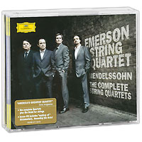 Emerson String Quartet Complete String Quartets. Mendelssohn. Emerson String Quartet (4 CD) антонин дворжак antonin dvorak vlach quartet string quartet in g major op 106 lp