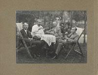 Мужчины играют в карты / Женщины на даче (двухсторонний лист из фотоальбома)