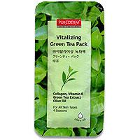 Набор освежающих масок Purederm. Зеленый чай, 10 мл x 5 набор освежающих масок purederm зеленый чай 10 мл x 5
