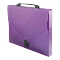 Папка-портфель Proff (Профф) (Профф) для документов, с замком, цвет: фиолетовый папка пластиковая для документов